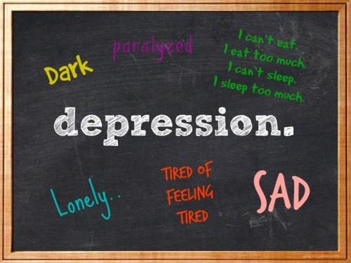 depression chalkboard