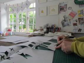 Cutting the stencils
