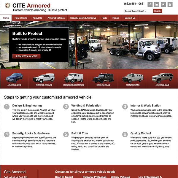 Cite Armored Website