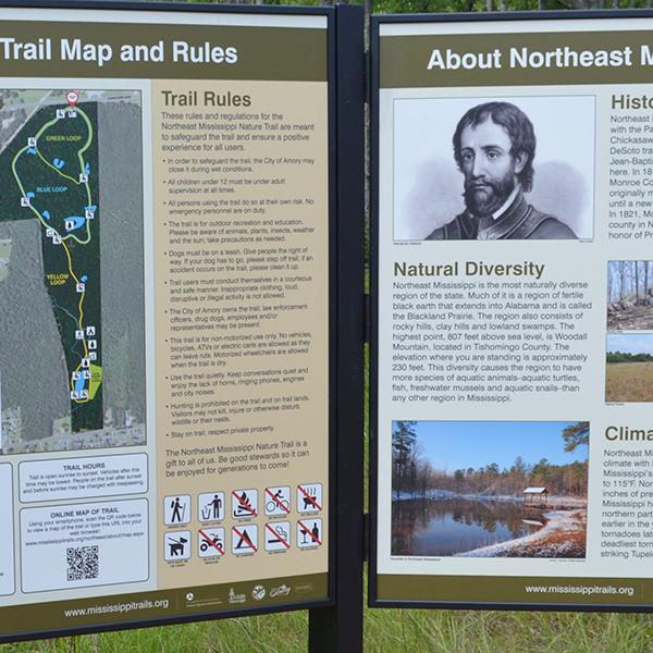 Northeast Mississippi Nature Trail Interpretive Signs
