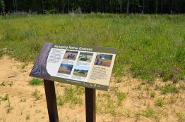 Managing Native Grasses Sign