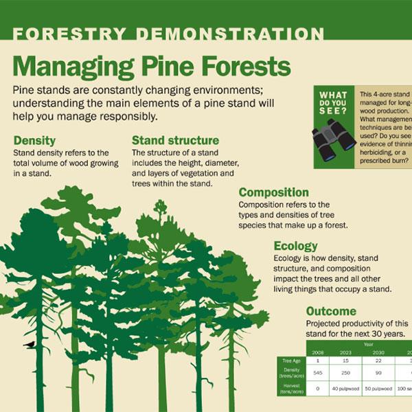 Forestry Demonstation Area Interpretive Signs