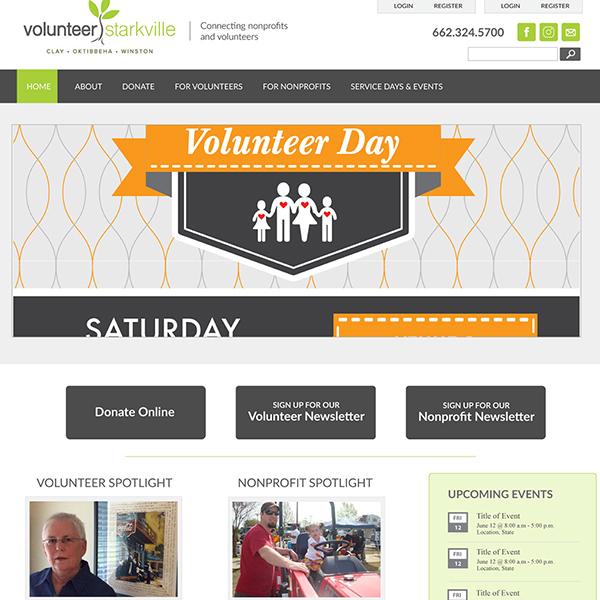 Volunteer Starkville Website