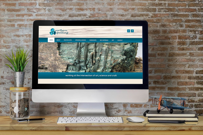 Screenshot of the Northern Spalting Website