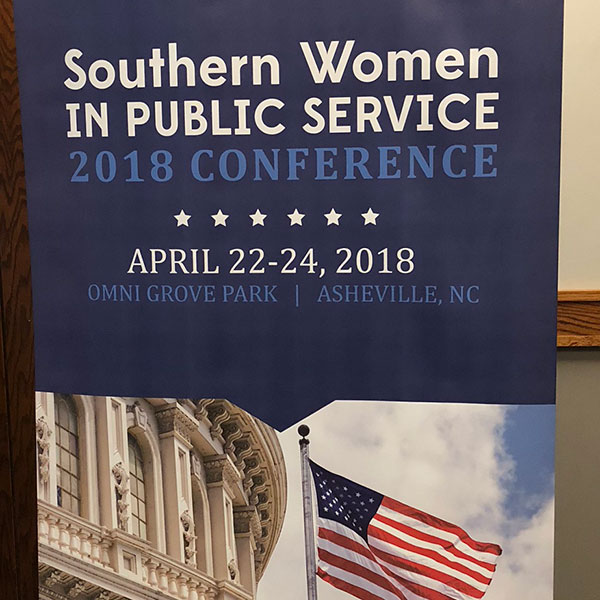 Banner Stand for Southern Women In Public Service Conference 2018