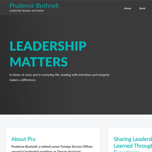 Website for Author and Speaker Prudence Bushnell