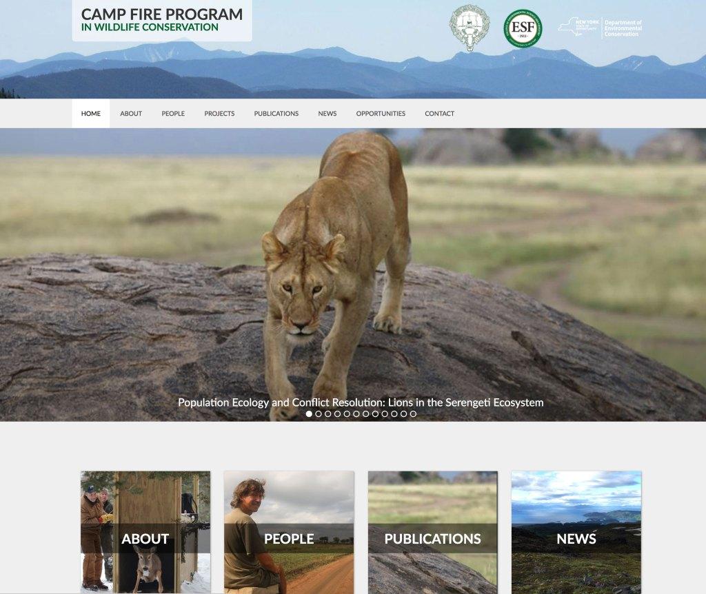 Camp Fire Program in Wildlife Conservation Website