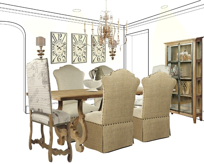 DINING IN CASUAL ELEGANCE: FRENCH COUNTRY STYLE DINING