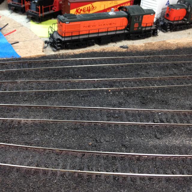 Weathered rail