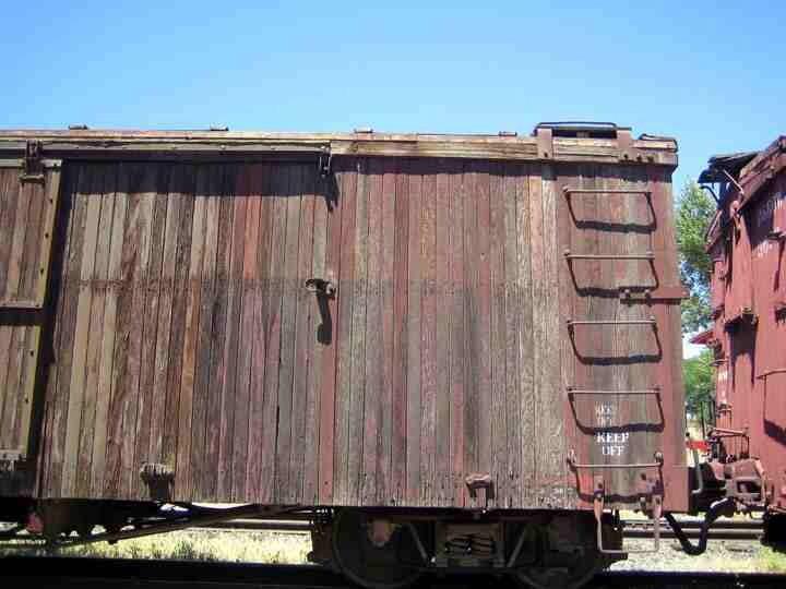 Faded box car