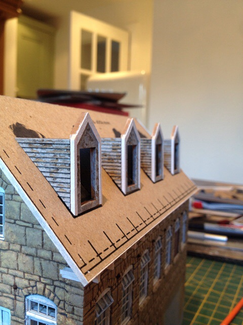 Dormers in place
