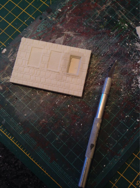 wetting plaster