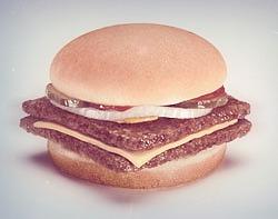 a burger square