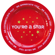 red star plate