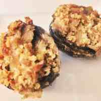 Vegan Sausage Stuffed Mushroom Appetizer