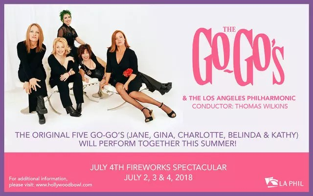 "The Go-Go's Reunion shows for ""Head Over Heels"" musical."