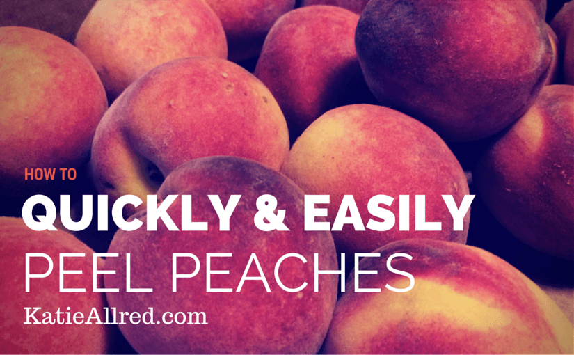 How to Peel Peaches Fast and easy