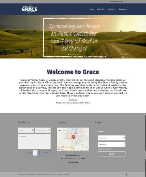Grace Baptist Church - Churches Using Divi