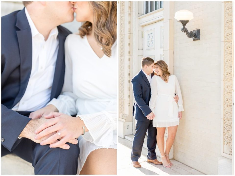 Ashley & Grant's Downtown Birmingham Engagement Session - Birmingham, Alabama Wedding Photographers Engagement Dresses