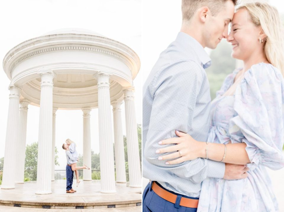 Sibly Temple Proposal in Birmingham, Alabama - Proposal Photographers Katie & Alec Photography