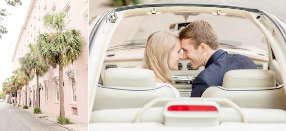 Mills House Hotel Charleston Engagement Session - Katie & Alec Photography