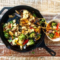 Make-Ahead Asian-Inspired Chicken & Vegetables Over Sweet Potato Noodles