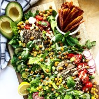 Za'atar Chicken & Basil Green Goddess Summer Salad Board