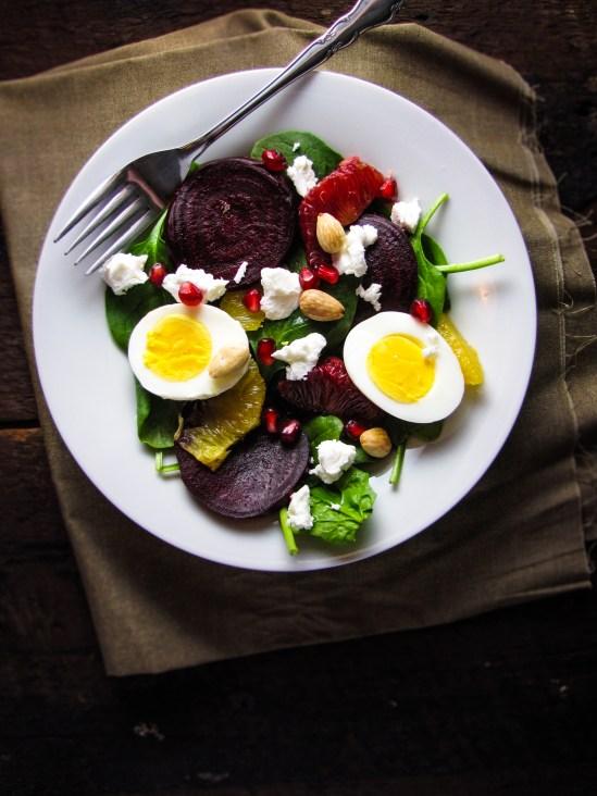 Image result for Roasted beetroot & egg salad