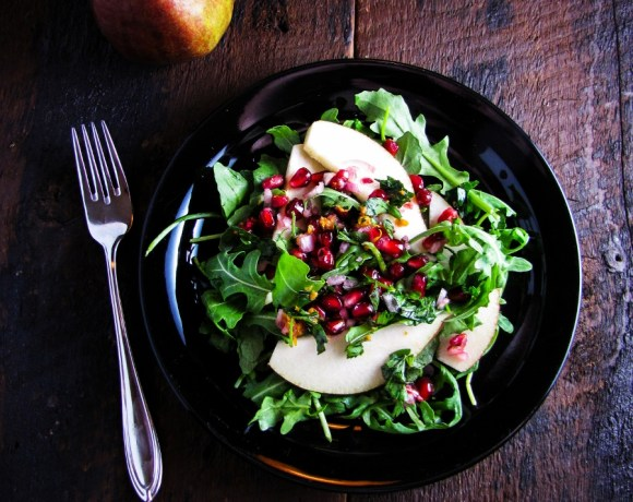 Pomegranate & Pear Salad