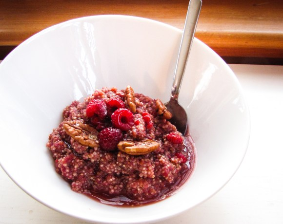 Cleanse Breakfasts: Raspberry-Maple Quinoa, Broccoli & Mushroom Scramble