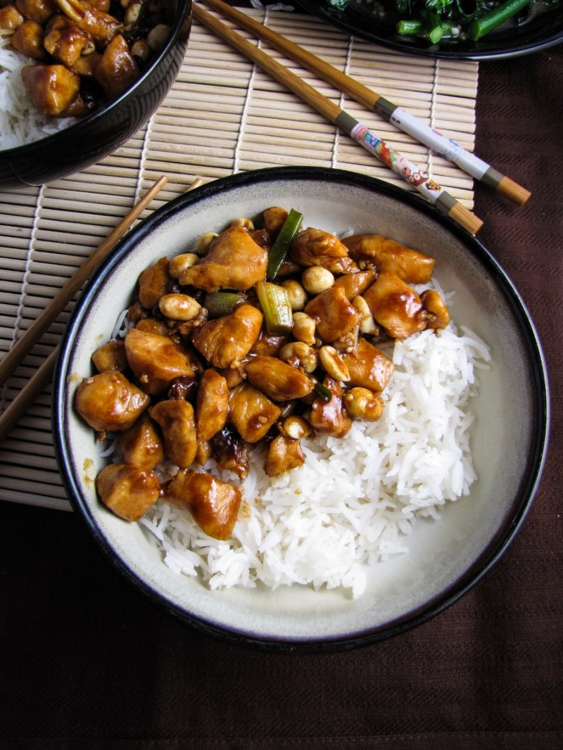 Gong Bao Chicken with Peanuts {Katie at the Kitchen Door}