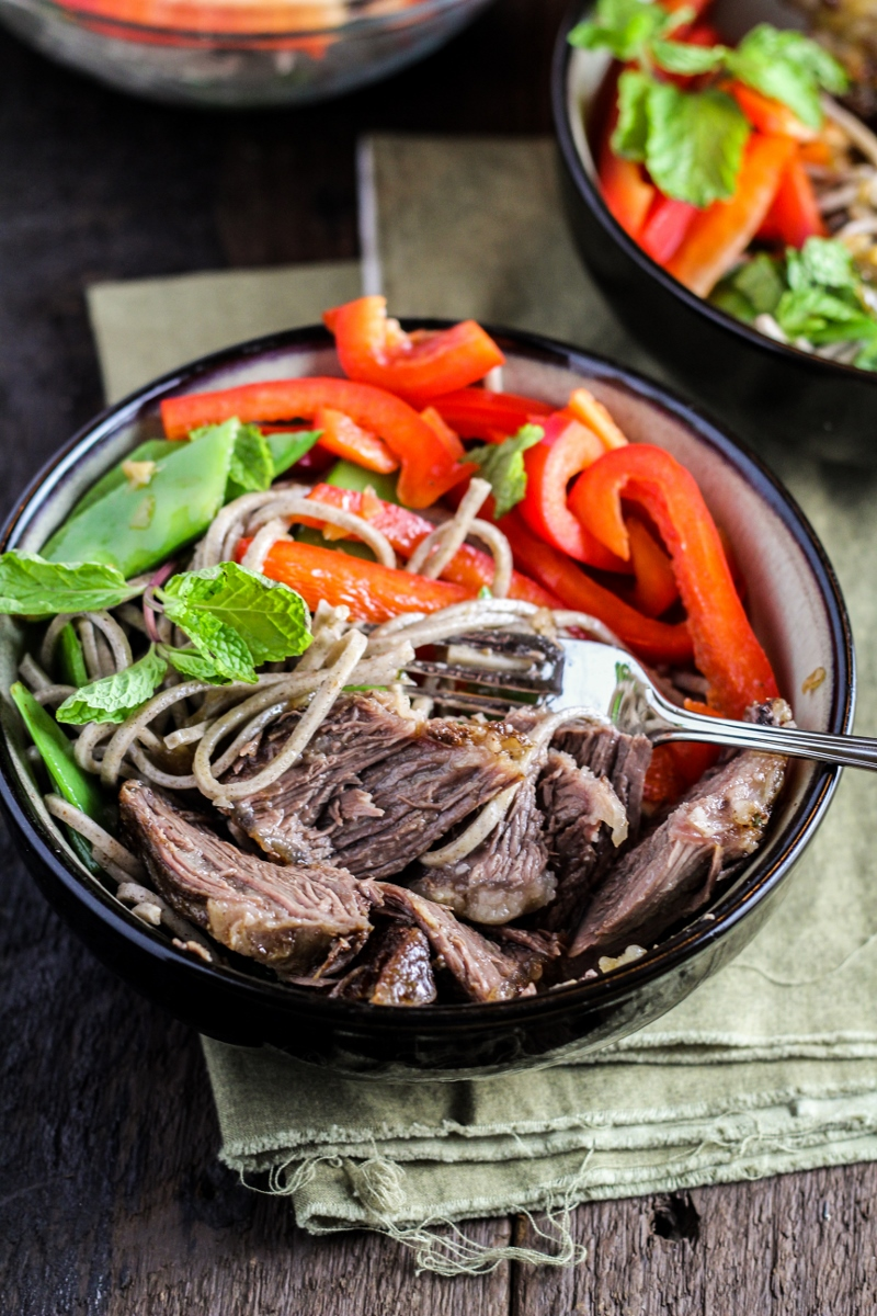 Vietnamese-Style Short Ribs with Soba Noodle Salad {Katie at the Kitchen Door}