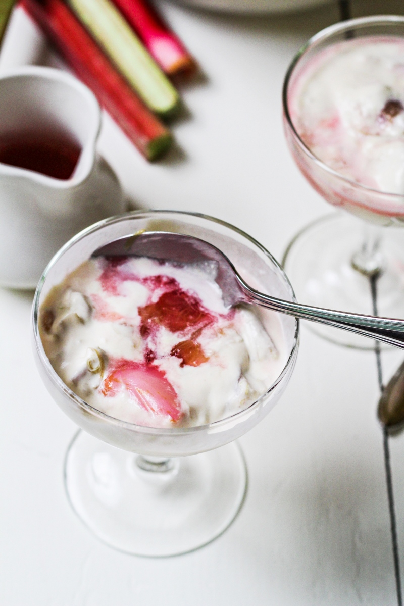 Rhubarb Custard Fool {Katie at the Kitchen Door}
