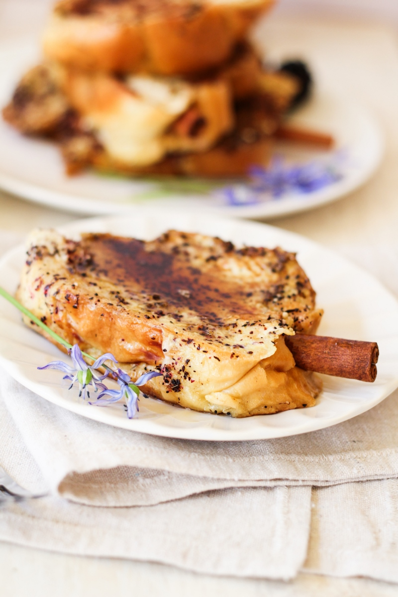 Cinnamon Brioche French Toast Skewers {Katie at the Kitchen Door}
