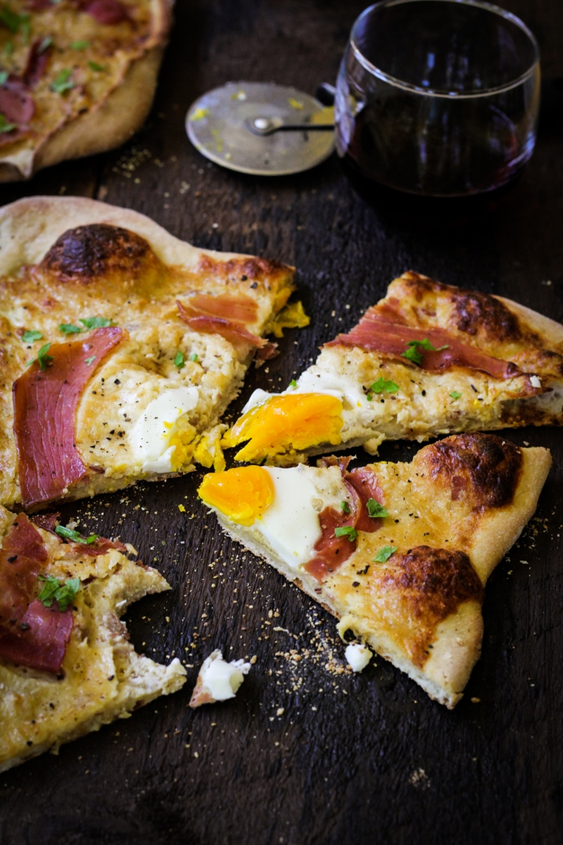 Carbonara Pizza {Katie at the Kitchen Door}