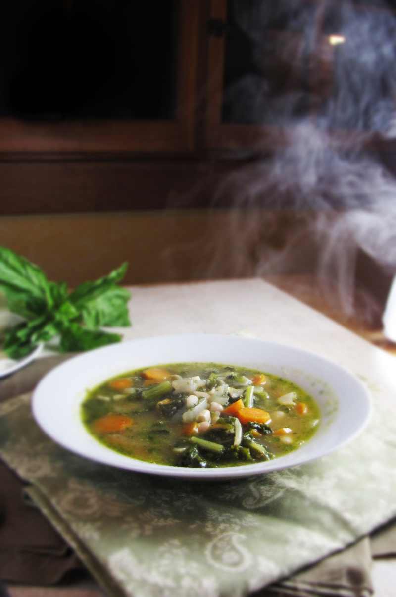 15 Favorite Fall Recipes - White Bean, Pesto, and Kale Soup