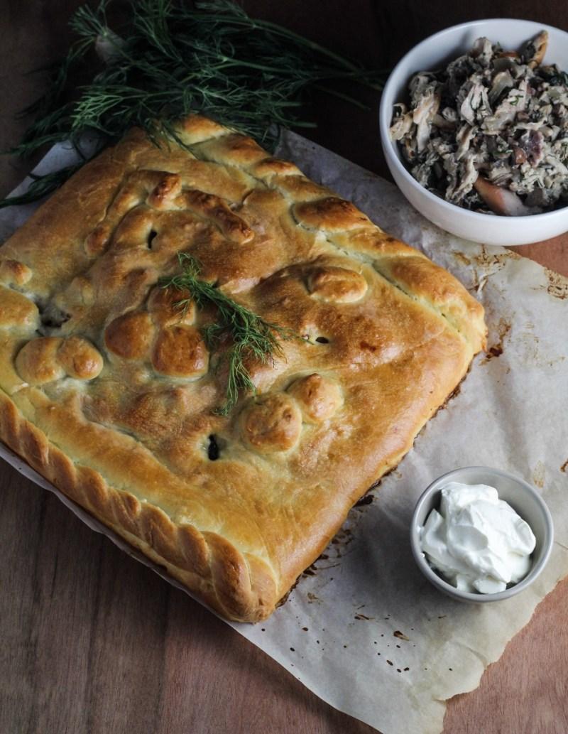 Russian Rabbit and Mushroom Pie {Katie at the Kitchen Door}