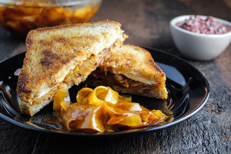 Moroccan Carrot Panini with Olive Tapenade {Katie at the Kitchen Door}