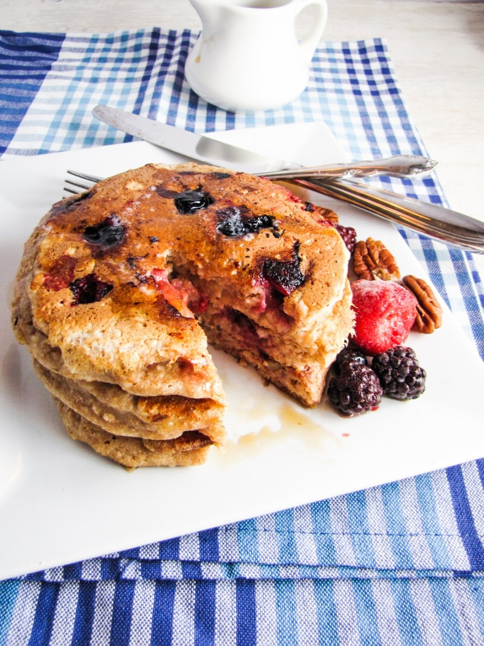 Healthy Winter Recipes - Whole Wheat Fruit and Nut Pancakes