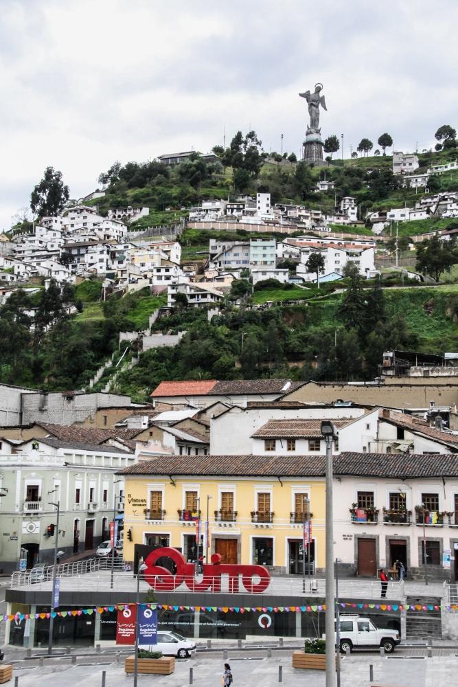 Ecuador Travelogue: Quito - View of La Virgen from Museo de la Ciudad {Katie at the Kitchen Door}