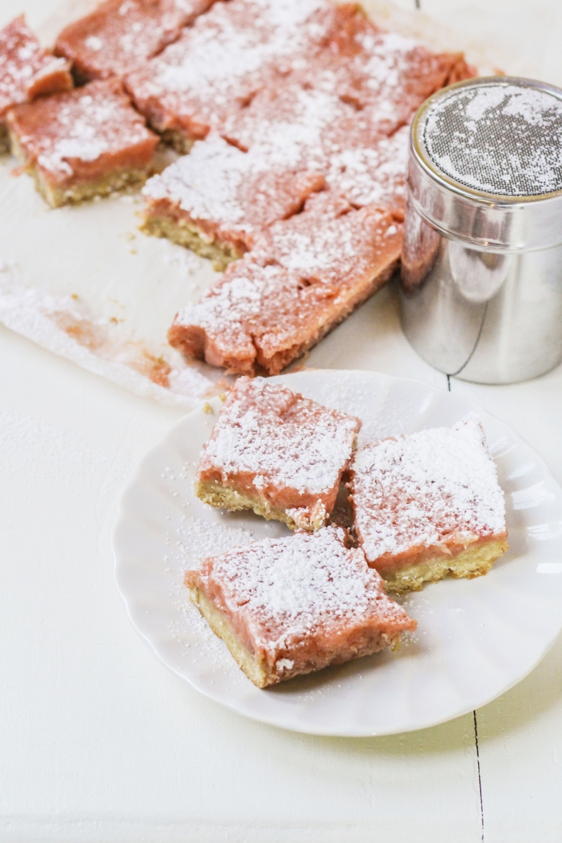 13 Recipes for Spring - Rhubarb-Ginger Bars {Katie at the Kitchen Door}