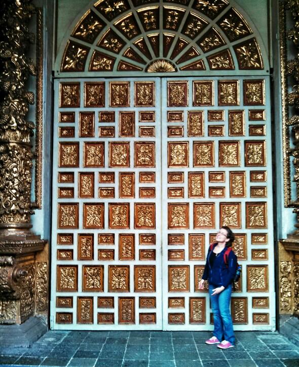 Ecuador Travelogue: Quito - Doors of La Campania de Jesus {Katie at the Kitchen Door}