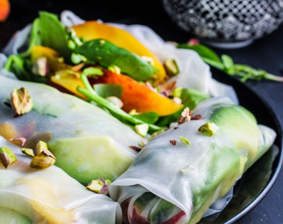 Book Club: The Vibrant Table // Peach and Avocado Summer Rolls