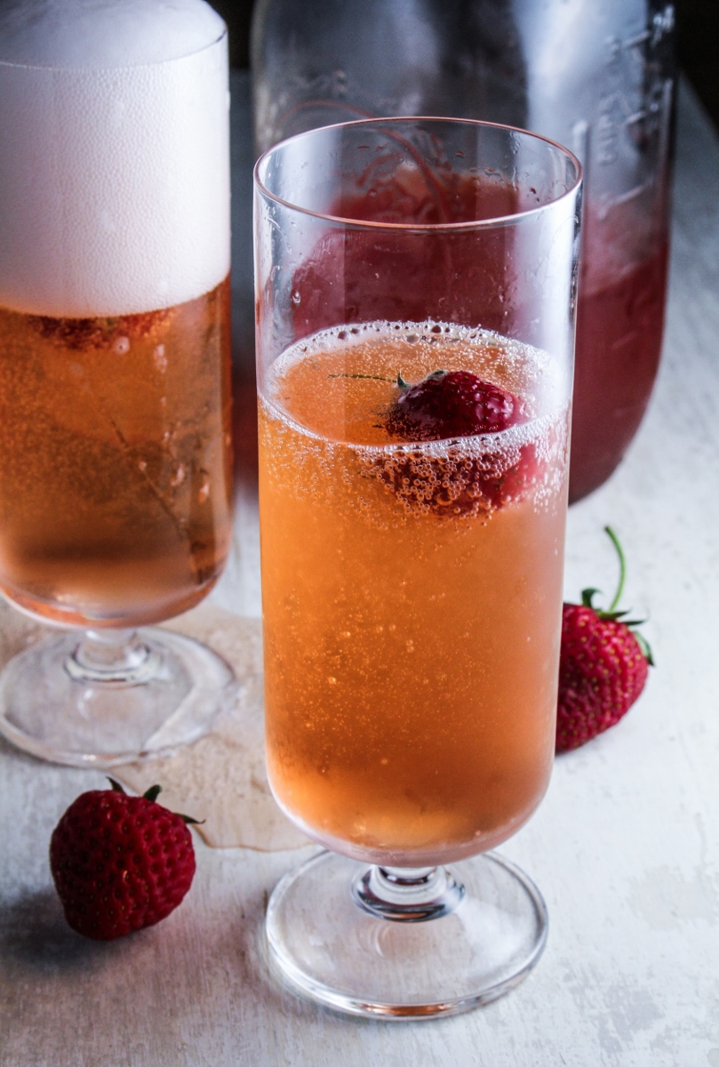 Strawberry Champagne Shrub {Katie at the Kitchen Door}