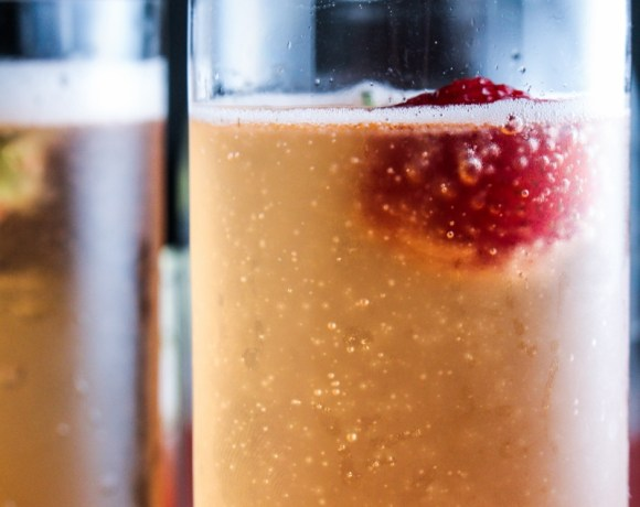 Ingredient of the Week: Strawberries // Strawberry Champagne Shrub