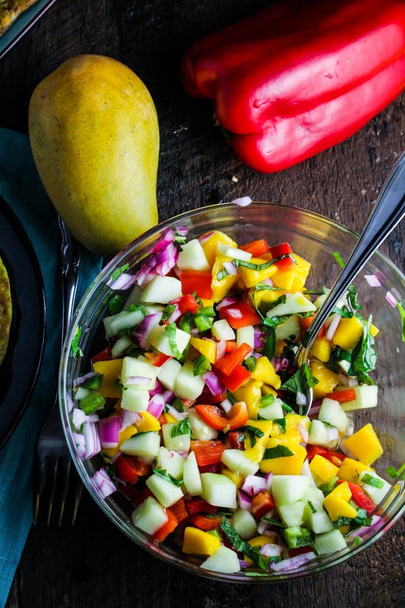Mango and Pepper Salsa {Katie at the Kitchen Door}