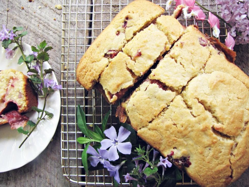 Strawberry Cornmeal Breakfast Cake {Katie at the Kitchen Door}