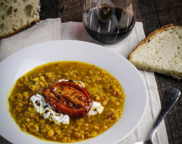 Clean Eating: Lentil and Roasted Tomato Soup with Saffron