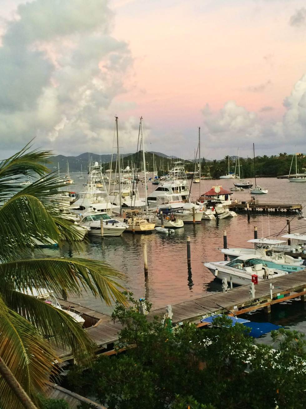 Sunset in Red Hook, St. Thomas - USVI Travelogue {Katie at the Kitchen Door}