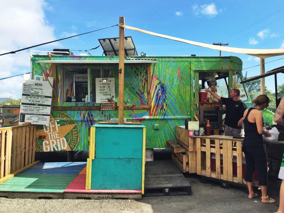 BBQ Food Truck, St. Thomas - USVI Travelogue {Katie at the Kitchen Door}